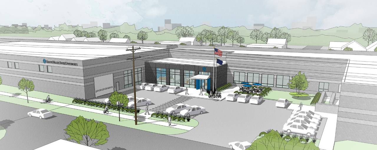 Rendering of the Innovation Design Center for Engineering building.